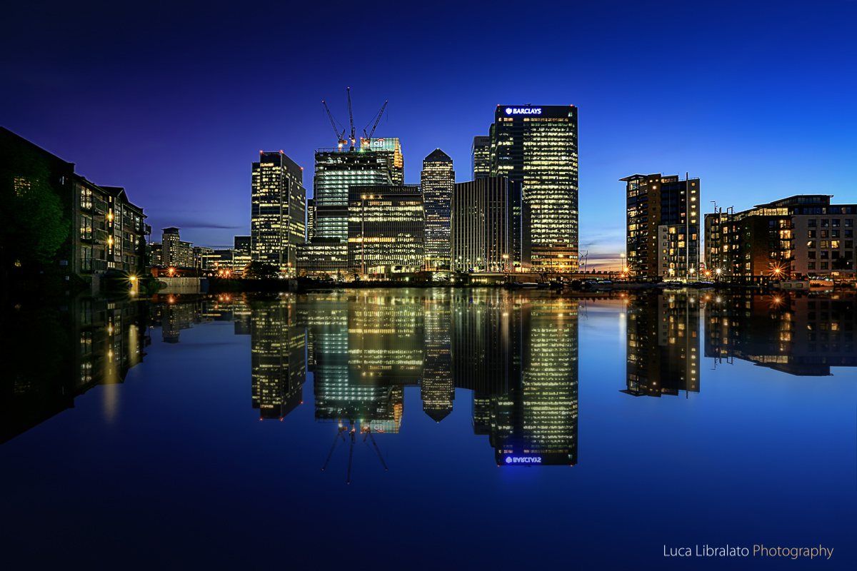 Blue Hour In Canary Wharf