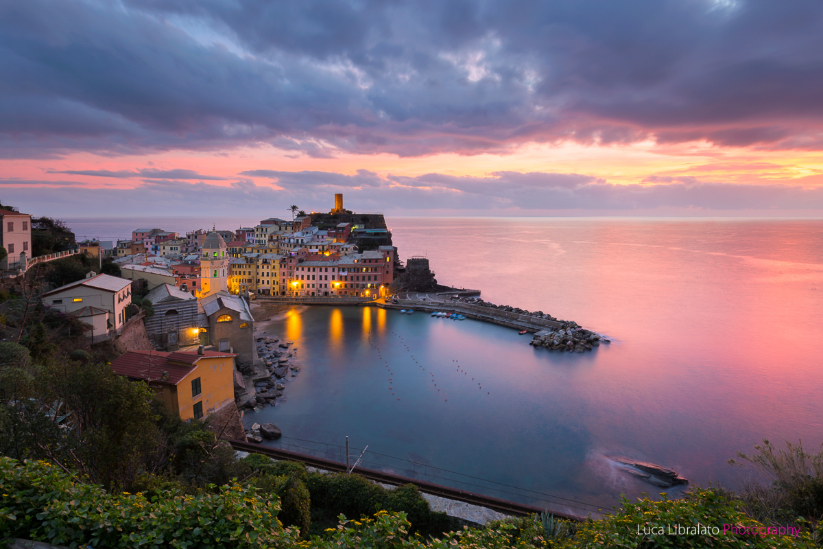 Vernazza In Pink And Blue