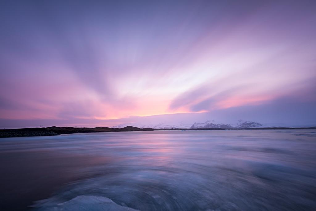 Jokulsarlon Iceberg Flow - Iceland
