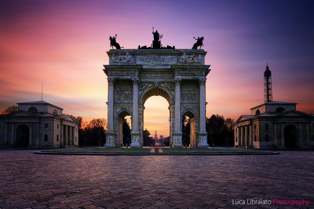 Arco Della Pace (Long Exposure Stacking)